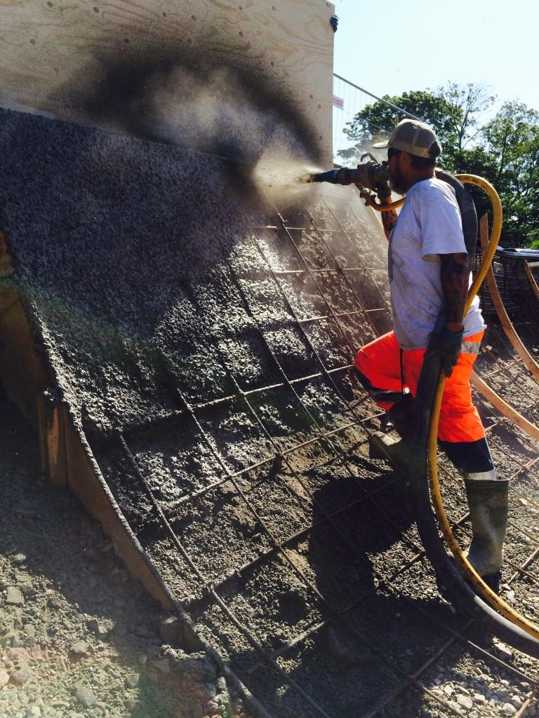 Dave spraying concrete
